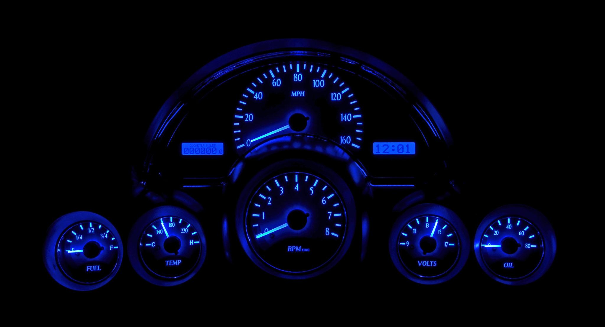 Custom Digital Gauges : Corvette dash display autos post