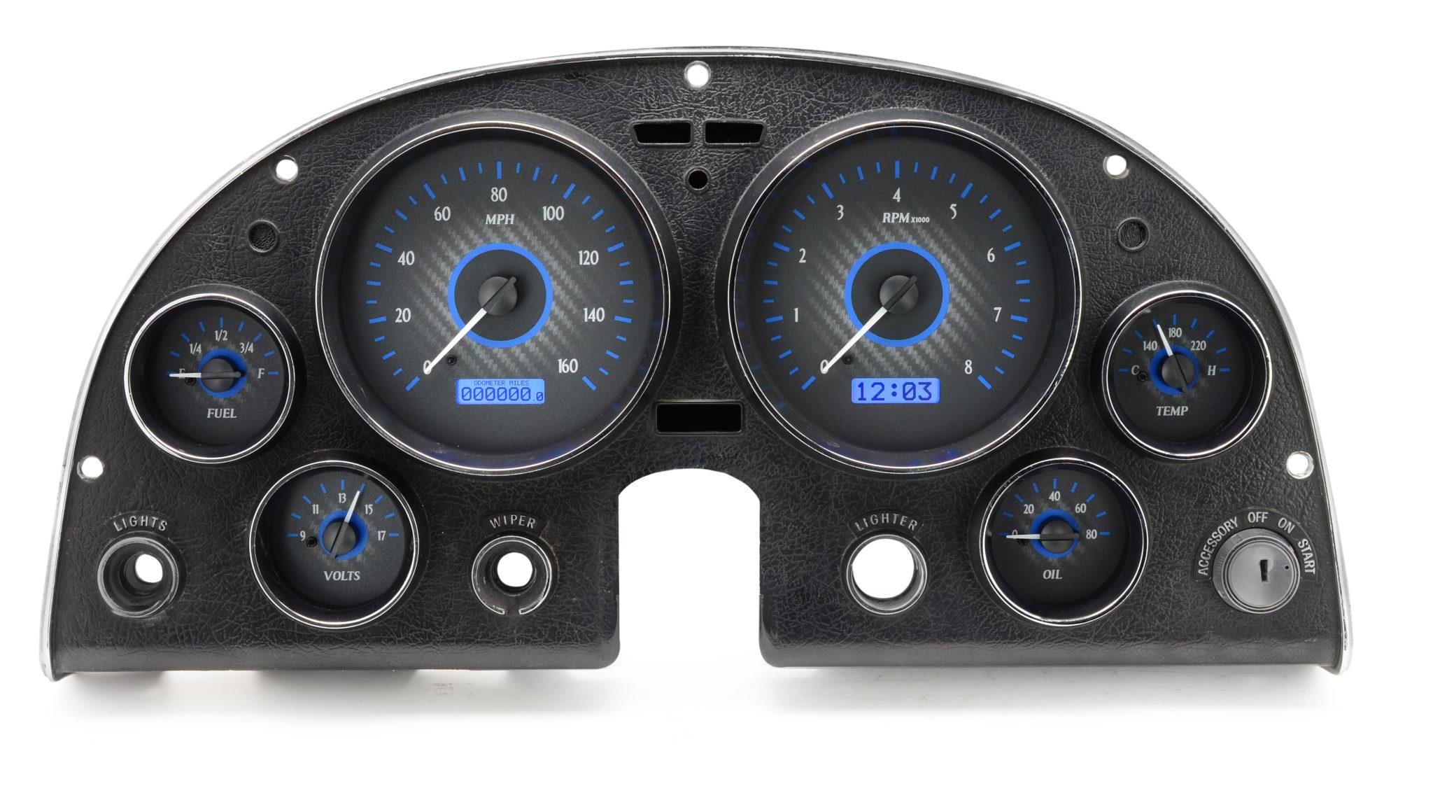 Custom Digital Gauges : Dakota digital releases vhx race themed instrument