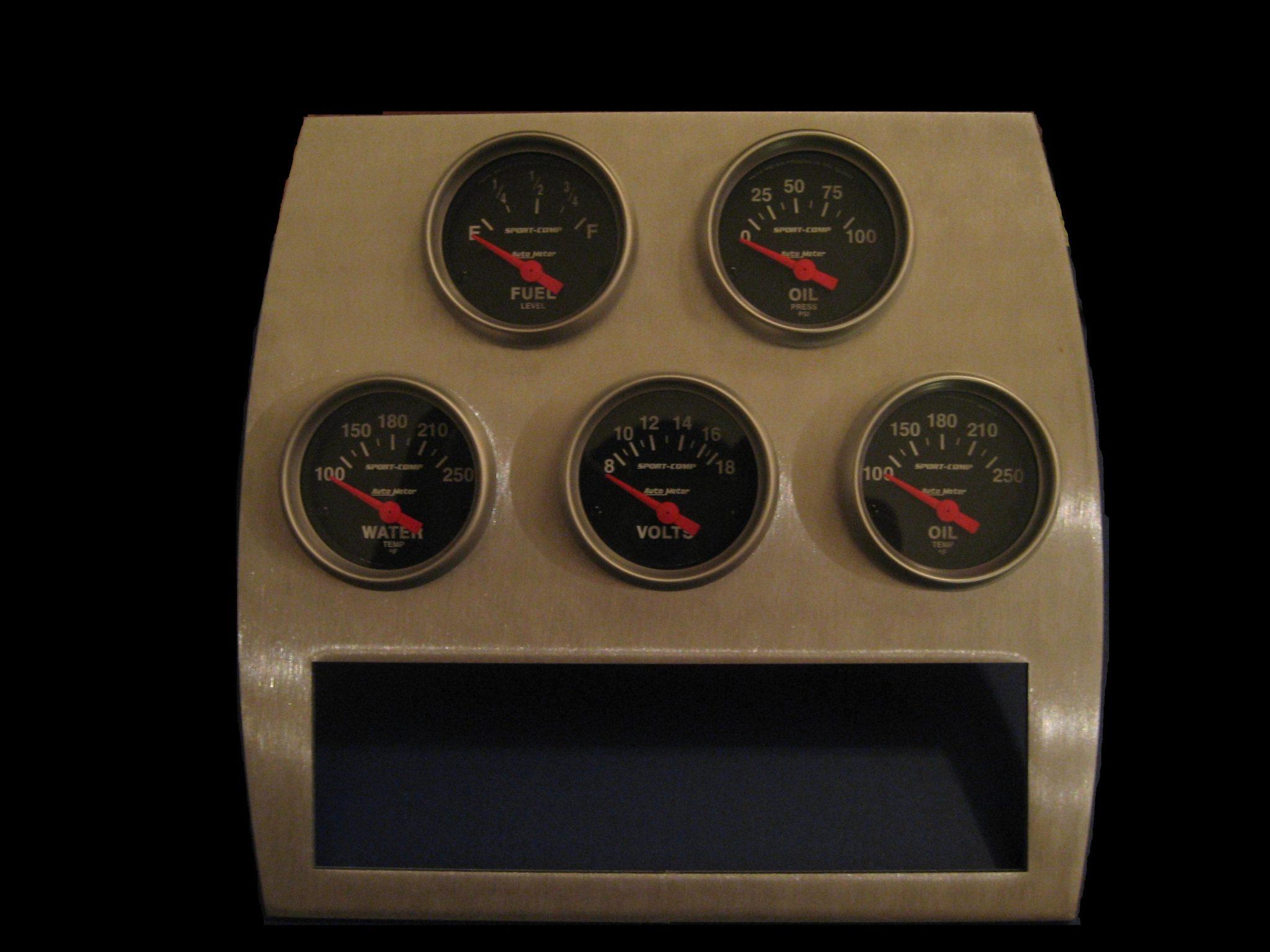 1982 Corvette Gauges : Corvette auxiliary gauge panel custom image