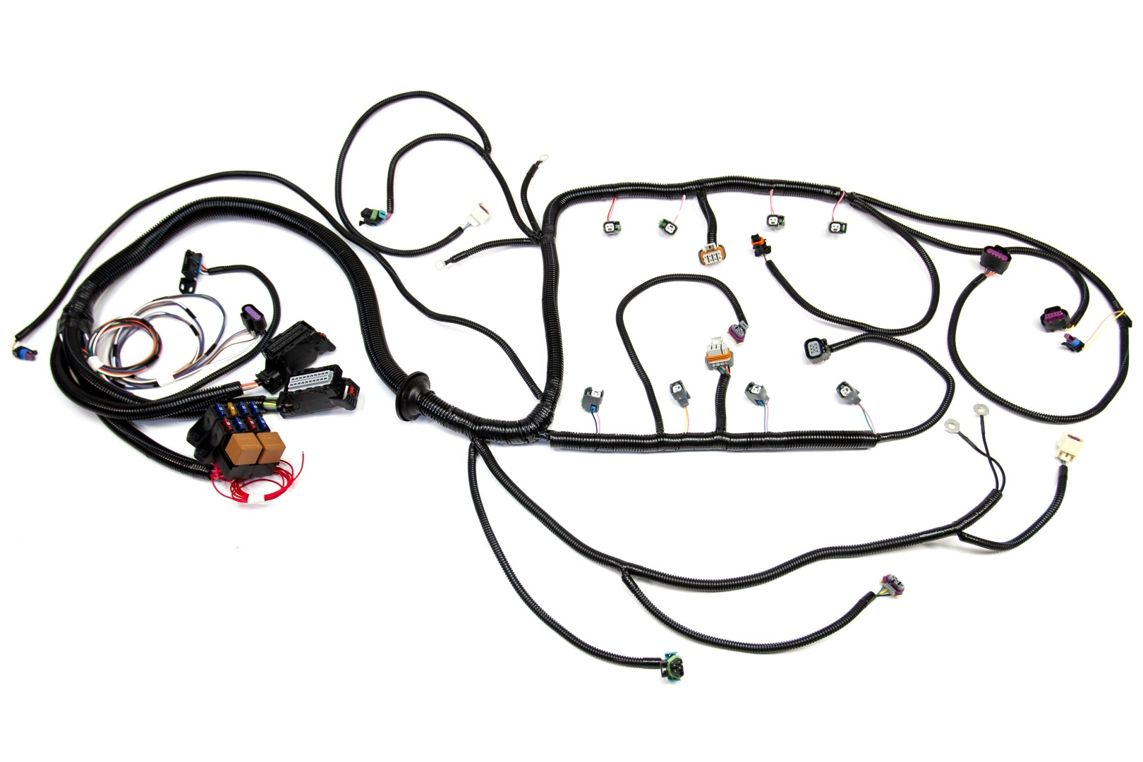 ls2 engine gm wiring harness gm wiring harness diagram 2000 '08 ls2 (6.0l) 58x standalone wiring harness w/t56/tr6060 ...