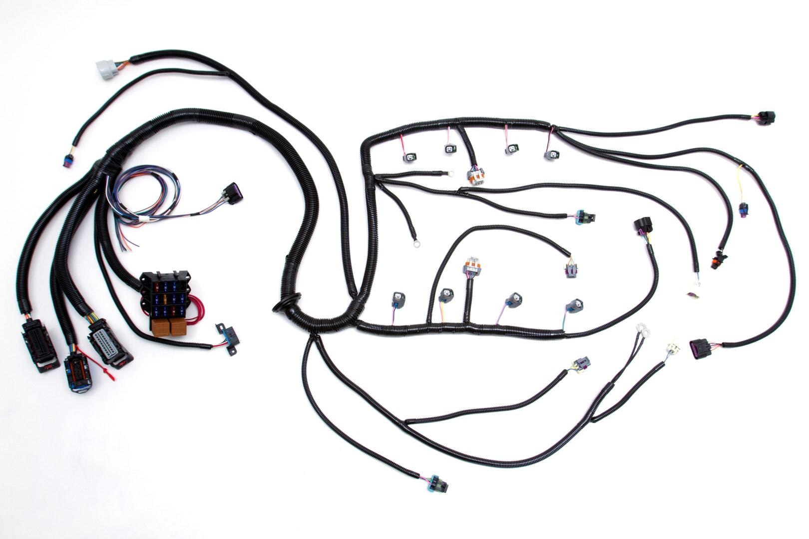u0026 39 08 ls2  6 0l  58x standalone wiring harness w  4l60e